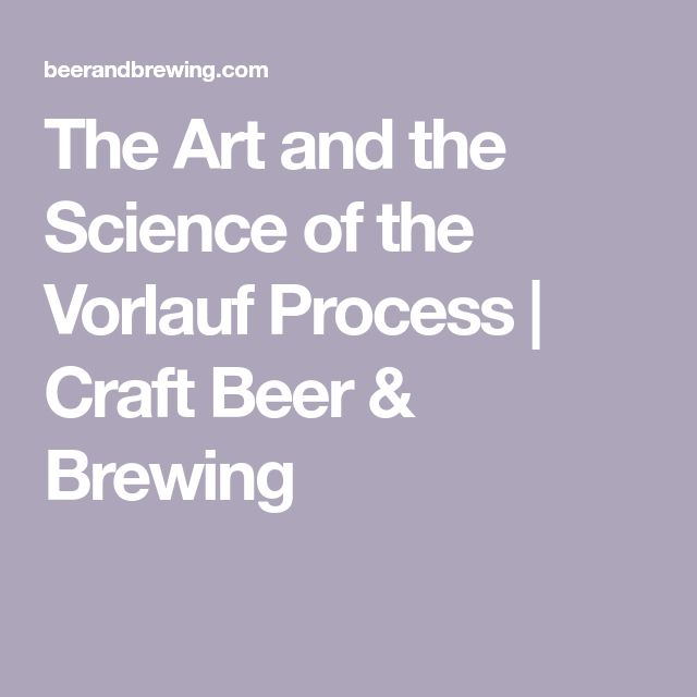 The Art and the Science of the Vorlauf Process