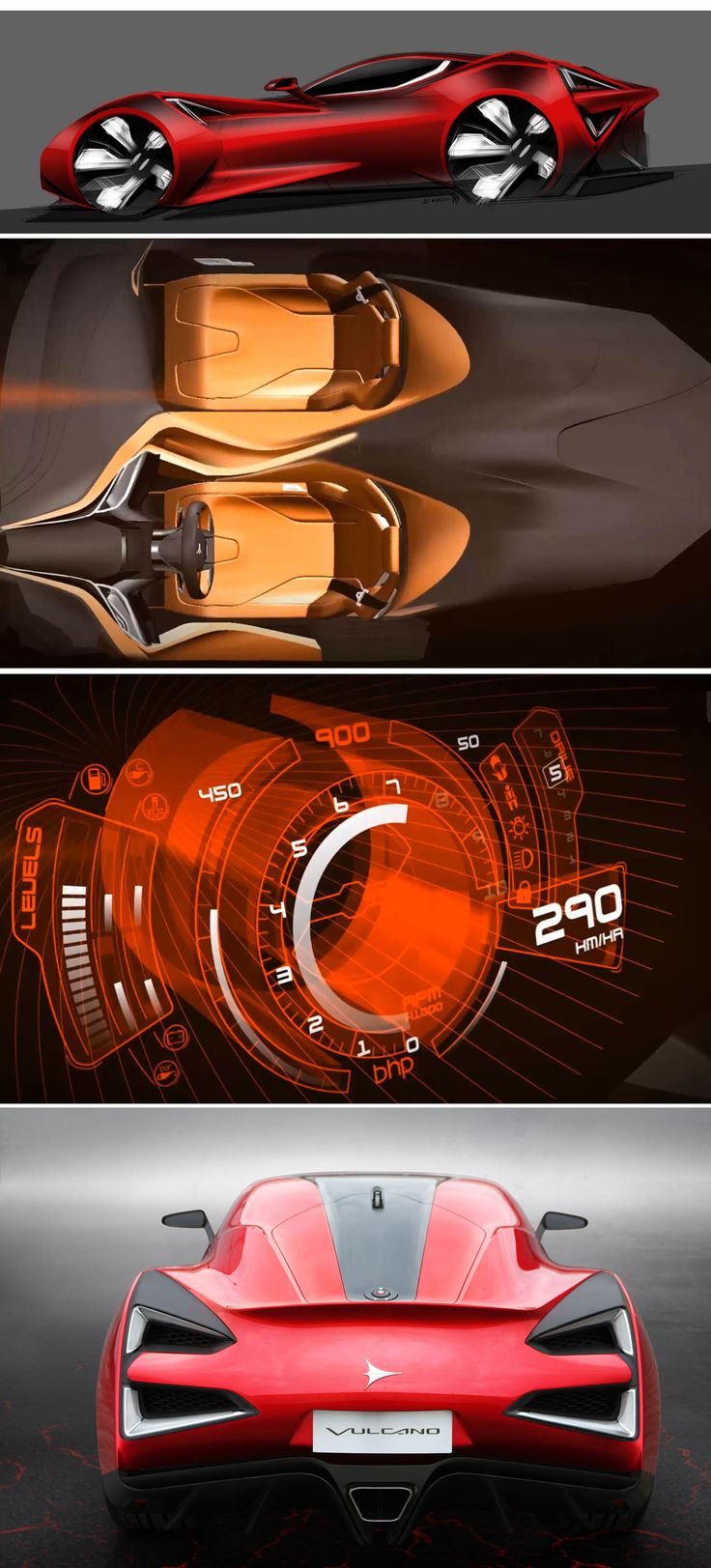 Icona Vulcano - Great supercar design sketches & 3D