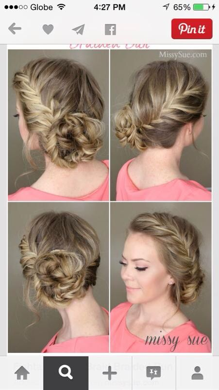 French fishtail braid with side bun