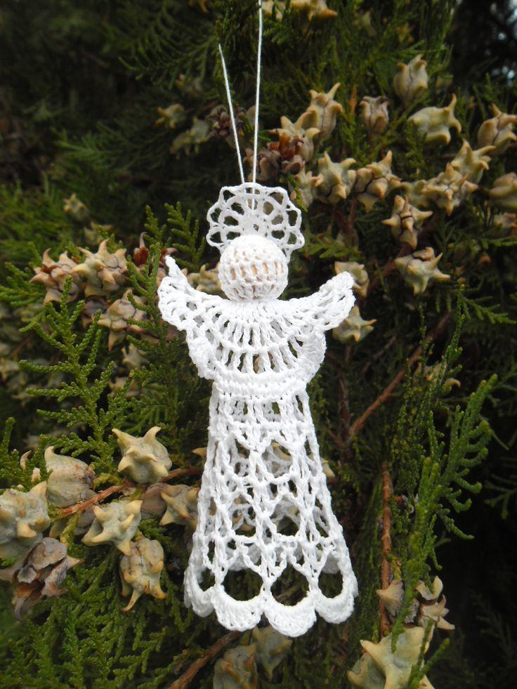Horgolt angyalka #angel #horgolt #crochet #angyal #karácsony