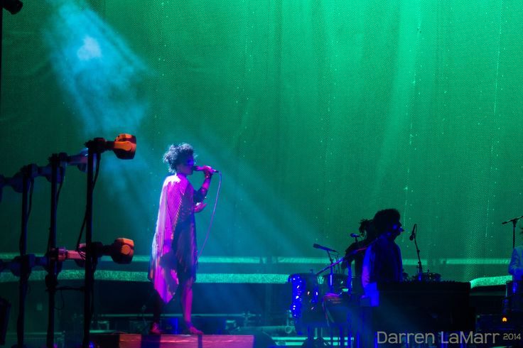 Arcade Fire -Régine Chassagne This from their August eighth #Reflektortour at The Gorge in Washington.