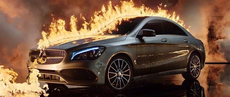 Mercedes-Benz сжёг новый автомобиль для рекламы