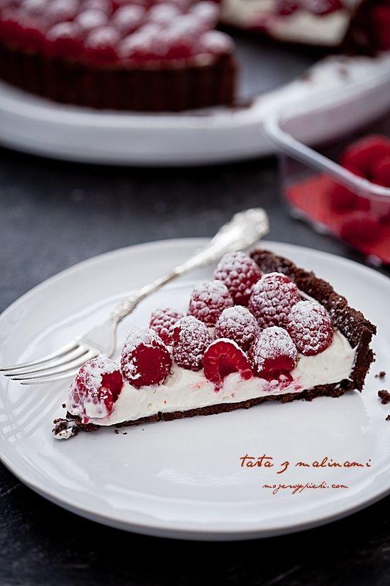 Tarta z malinami