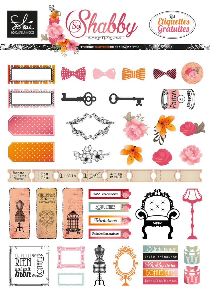 Free Printable So Shabby Stickers