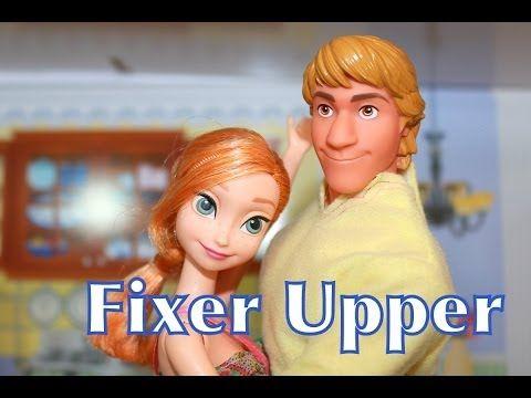 Frozen FIXER UPPER Disney Princess Anna & Kristoff Barbie Parody Song Play-Doh AllToyCollector