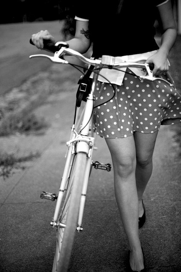 Polka dots, bike