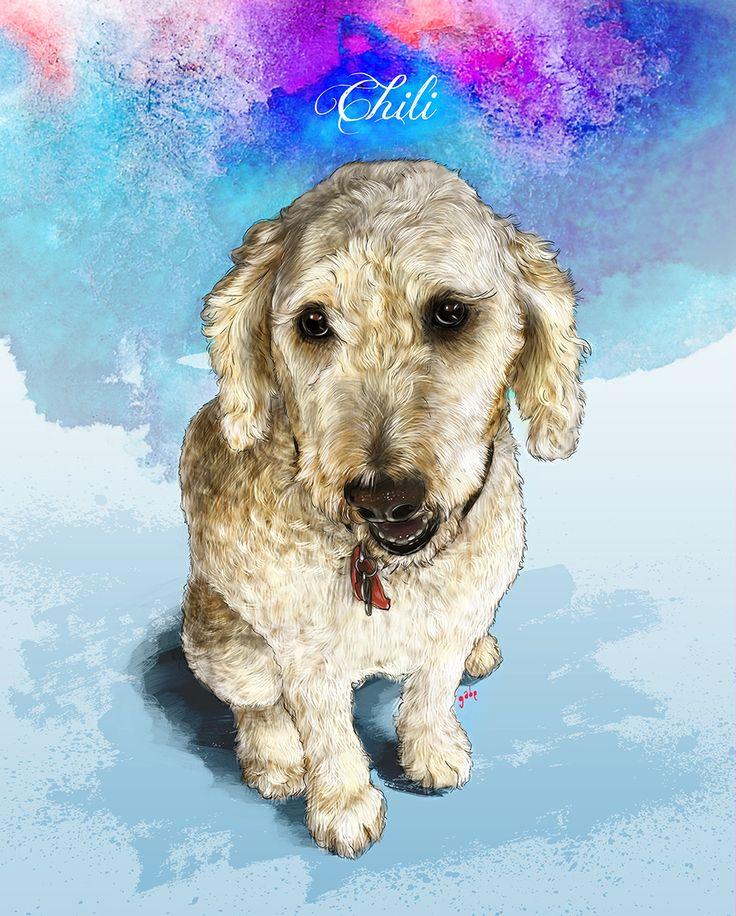 Commissioned portrait of Chili :)  Commission info & requests: https://www.etsy.com/au/listing/191989009/custom-pet-portrait-beautiful-digital?ref=shop_home_active_2