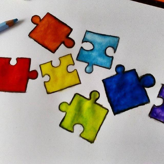 My Monday afternoon ⏰☺ #watercolour #watercolours #pencils #puzzle #puzzles #drawsgram #draw #drawing  #monday #mondayafternoon #bleistift #bleistiftzeichnung #zeichnen #zeichnung #montag #nachmittag #rysunek #kredki #akwarelowe #l4l