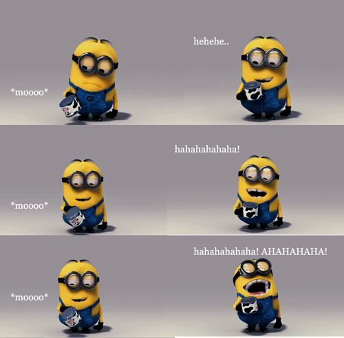 Haha is it bad the minions remind me of me and my friends