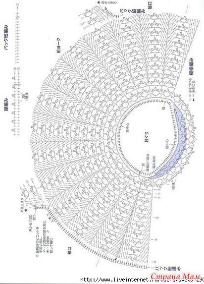 Прекрасная туника связана по кругу. Вертикальные полоски ажурного узора чередуются с плотным диагональным узором из столбиков с накидом. http://www.liveinternet.ru/