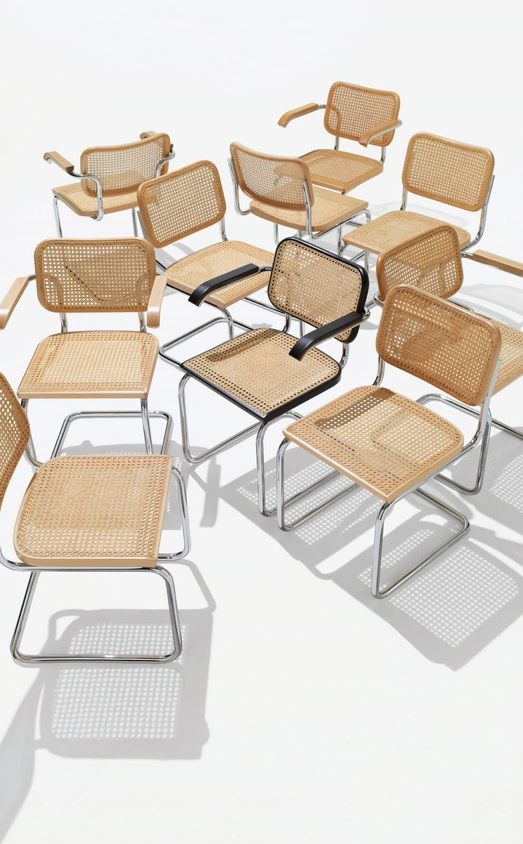 Marcel Breuer for Thonet Tubular Steel Chairs