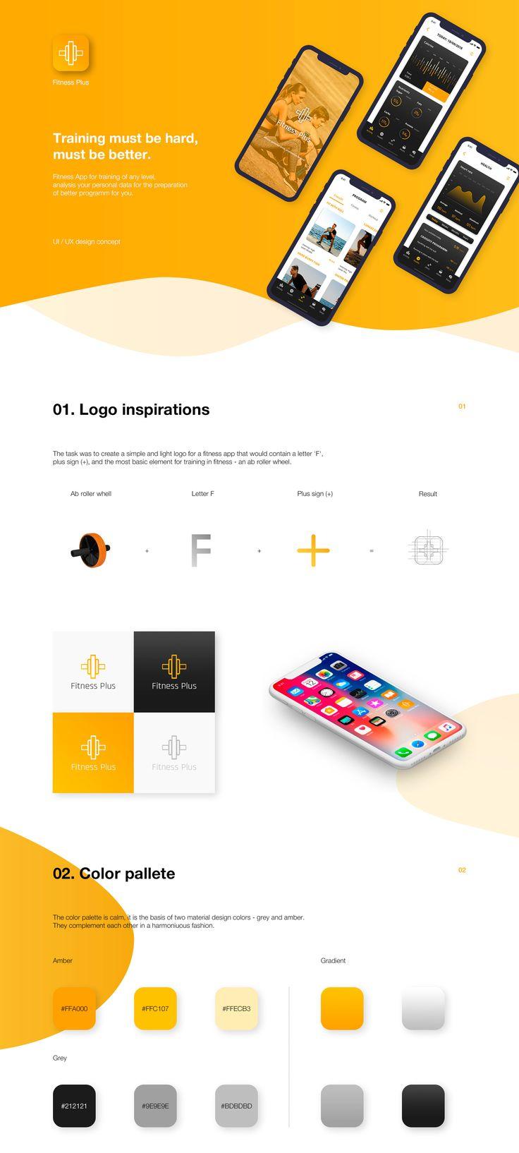 Fitness Plus – Mobile App (UX/UI design concept) on Behance
