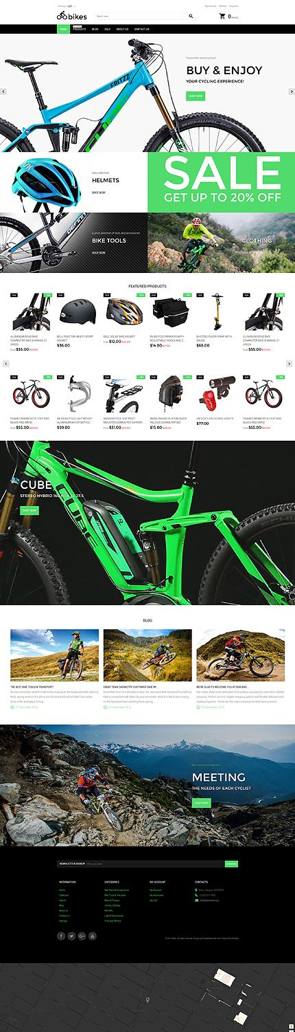 Mountain Bikes Online Store #Shopify #template. #themes #business #responsive #webshop #Shopifythemes