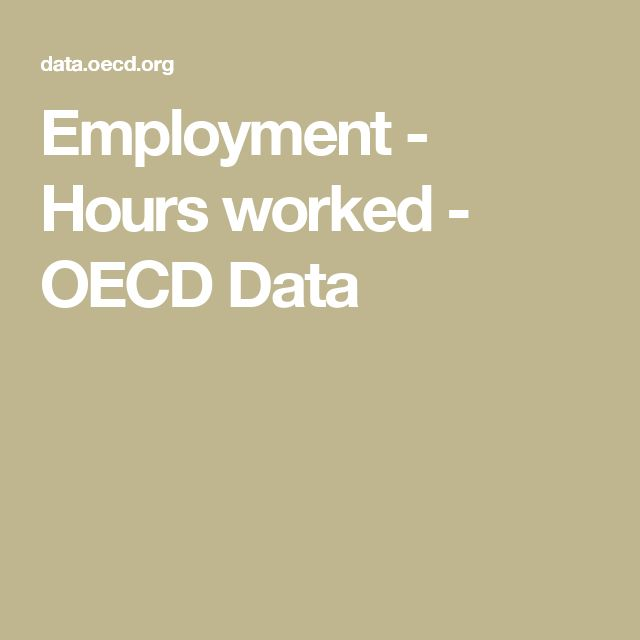 Employment - Hours worked - OECD Data