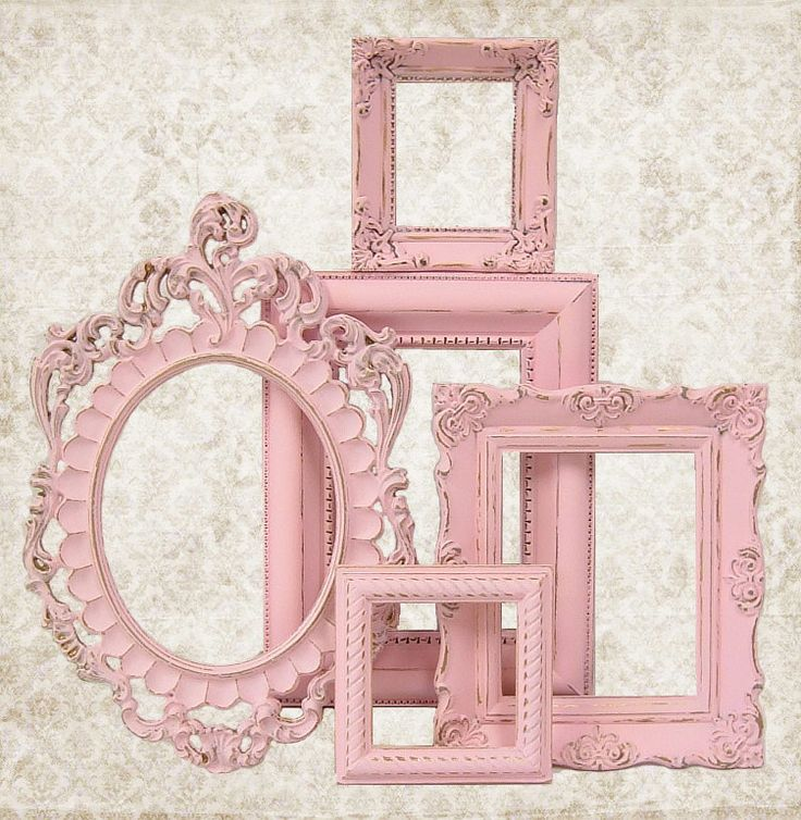 Shabby Chic Picture Frame Pastel Pink Picture Frame Set Ornate Frames Wedding Nursery Shabby Chic Home Decor. $76.00, via Etsy.
