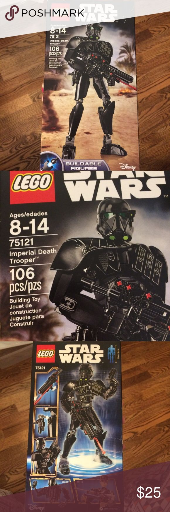 Legos NIB Star Wars action figurine Brand new in box, lego Star Wars imperial death trooper buildable figurine, 106 pieces. Finished height is 26cm/10.2inches. Love! Lego Other
