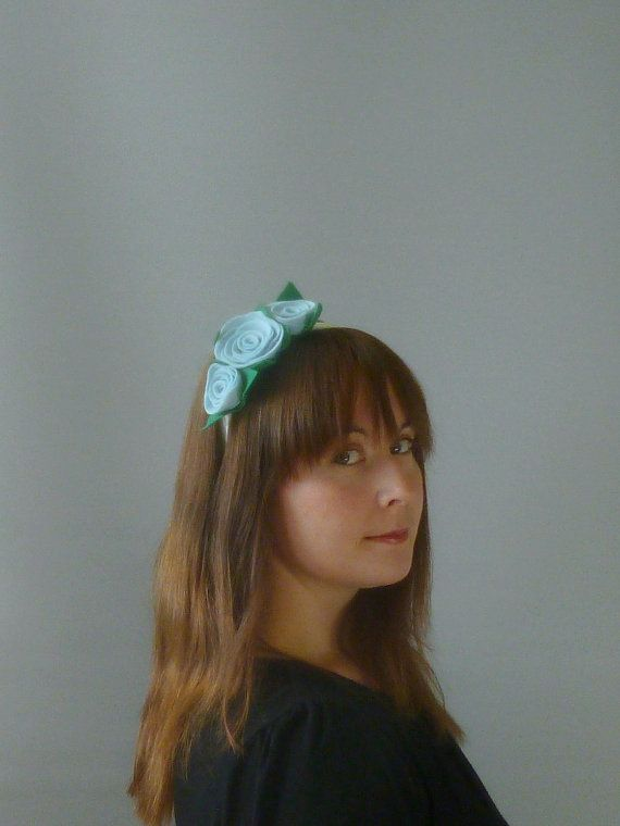Pale Blue Fascinator Hair Accessory with felt by SophieShields, £10.00