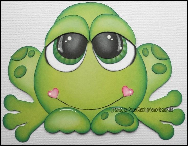 Premade Paper Pieced Frog for Scrapbook Pages -by Babs