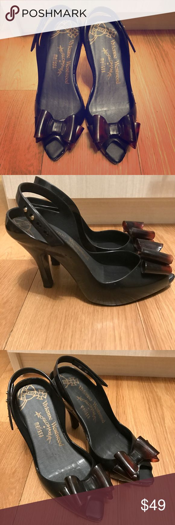 Melissa jelly high heels. The most classic designed Melissa Jelly Shoes.  Mint condition. Very beautiful and comfortable to wear! No trade. Melissa Shoes Heels