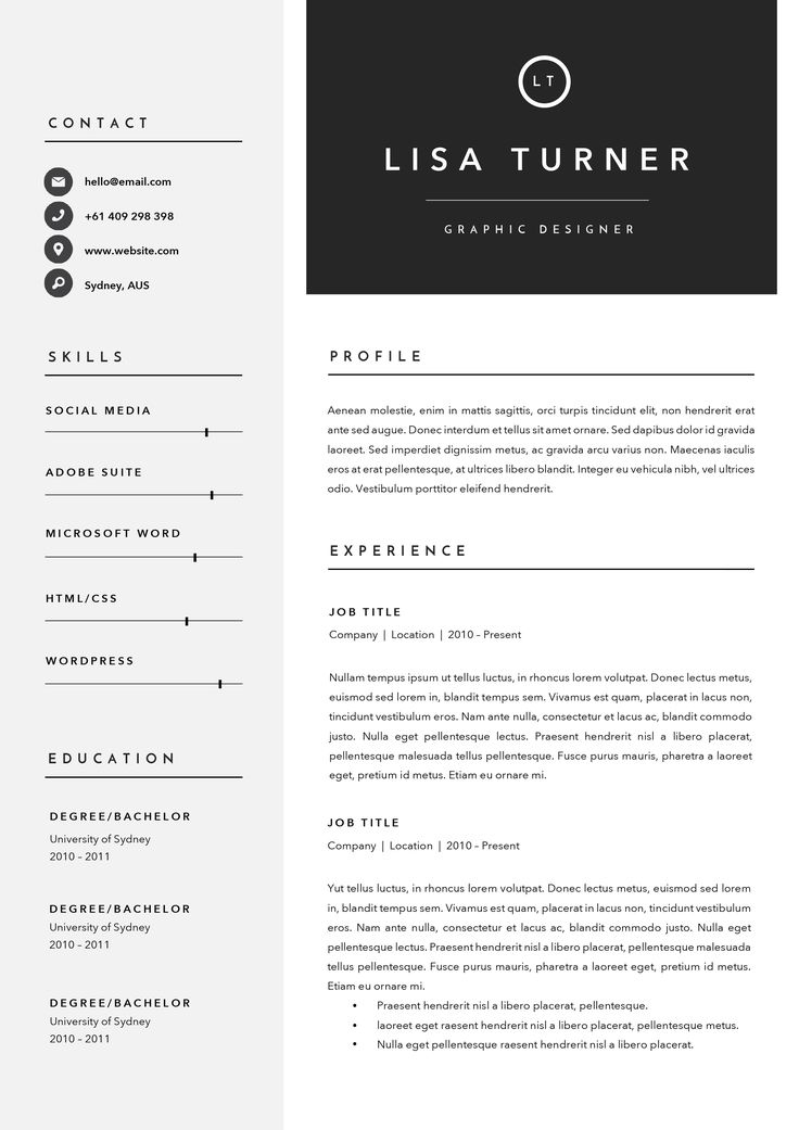 13 best CV Template images on Pinterest Resume, Resume templates - 3 page resume
