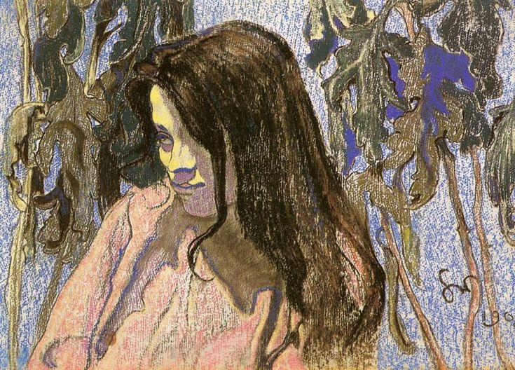 Portrait of Eliza Parenska  Stanislaw Wyspianski