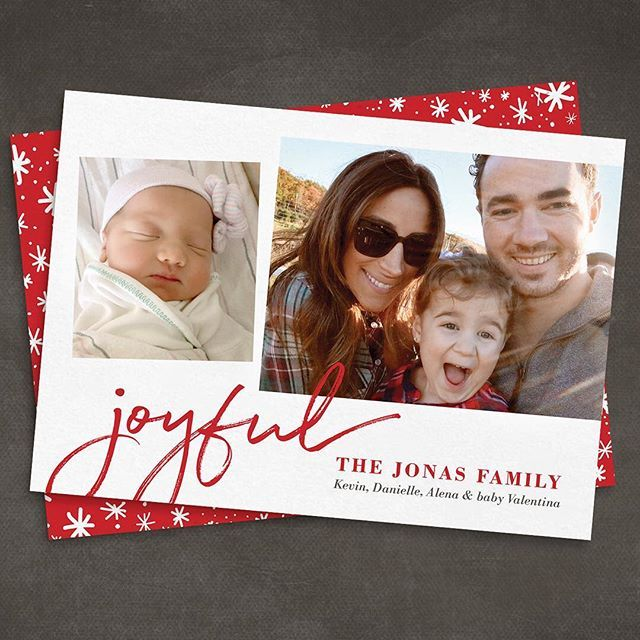 Loving the Jonas family 2016 Christmas card we ordered fromSimplytoimpress.com. Lots of stylish designs to choose from and affordable too. Danielle's a big fan. I'm so lucky to be spending Christmas with my beautiful wife, our precious Alena and our adorable new baby girl Valentina. #holiday2016