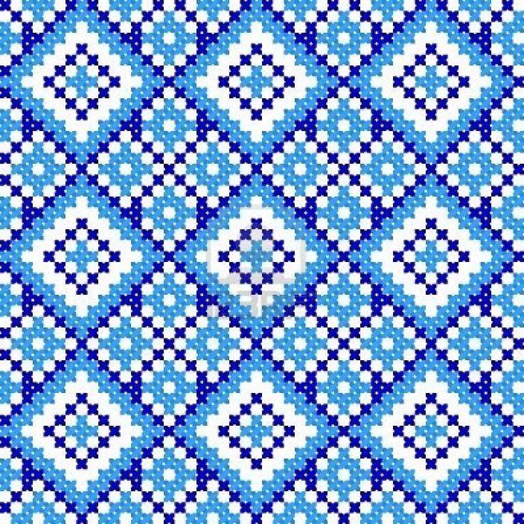 embroidered cross-stitch ethnic Ukrainian pattern