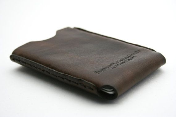 Windows Leather Credit Card Holder by JepsenLeatherGoods on Etsy