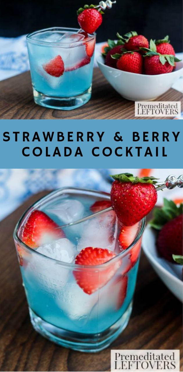 Strawberry & Berry Colada Cocktail #strawberry #drink #cocktail