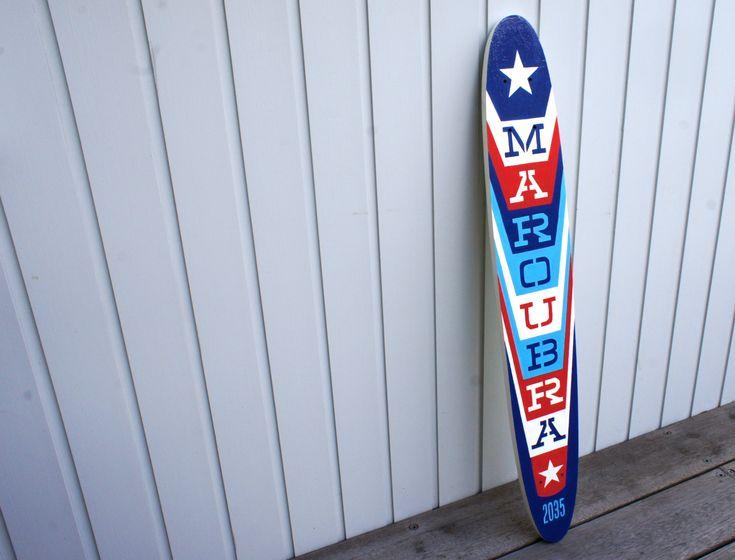 "Hand made/hand painted ""Maroubra 2035"" Skateboard deck"