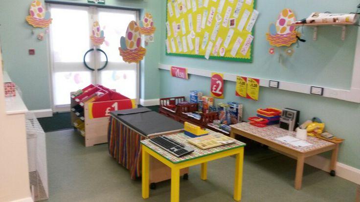 Mini tesco! School supermarket.