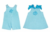 I'm loving the matching shortall and dresses for boy/girl twins!  YAY!: Twin Gift, Idea And Or, Gift Ideas, Nursery Ideas, 1St Birthdays