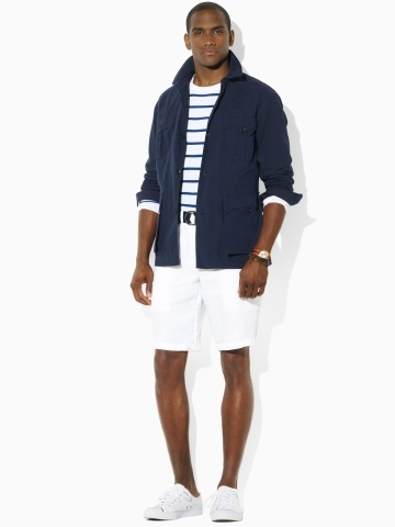 stripes, white shorts (that arents retro short!) and a light jacket. Find  this Pin and more on Ralph Lauren ...