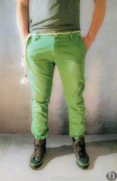 Pantalone con cinta corda verde