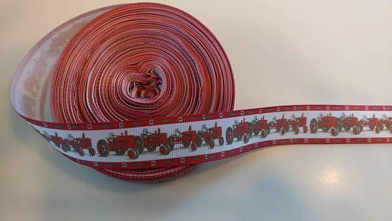 Check out this item in my Etsy shop https://www.etsy.com/listing/544092999/red-tractor-78th-grosgrain-ribbon-for-1
