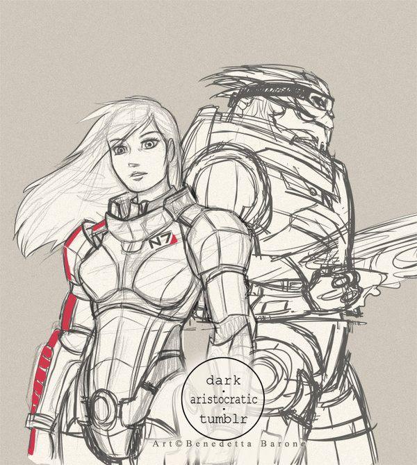 Mass Effect couple by secondchildrenASL.deviantart.com on @DeviantArt