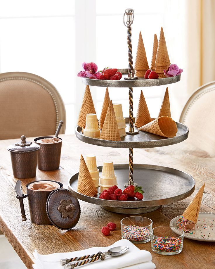GG Collection Twisted Three-Tier Server—because a high-tea tray can also be an ice cream tray.