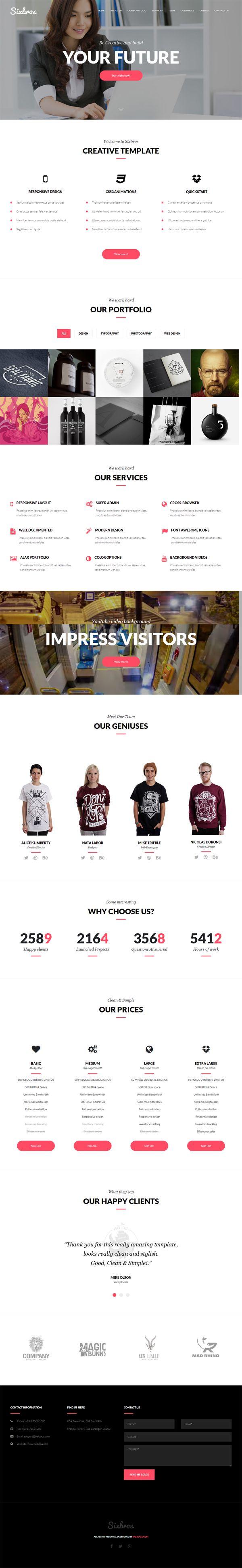 Joomla tshirt design - Sixbros Creative Business Joomla Template Is One Of The Premium Joomla Templates Creative Joomla Templates