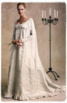 26 best renaissance wedding dress images on pinterest wedding medieval wedding dress pattern renaissance bridal gown junglespirit Gallery