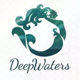 Deep Water Mermaid logo