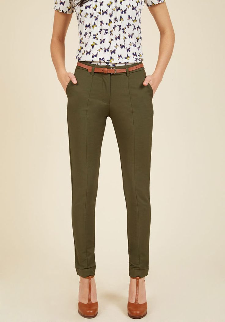 Beautiful  Green Skinny Kelly Green Pants Clothing Pants Outfit Jeans Outfit