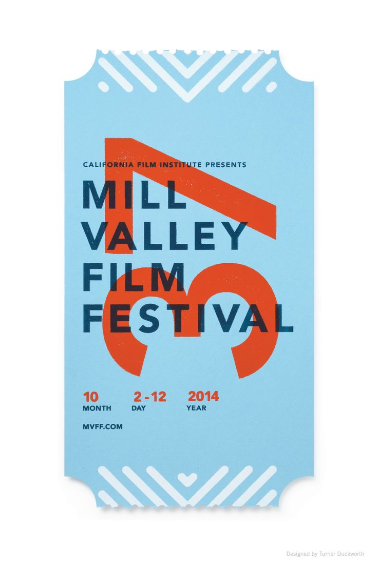 Poster design ideas pinterest - Mill Valley Film Festival Poster Designed By Turner Duckworth