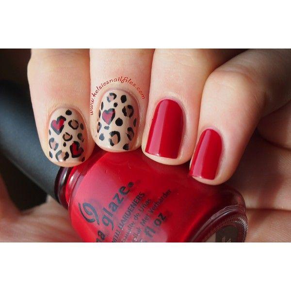 Red Cheetah Nails ❤ liked on Polyvore featuring beauty products, nail care, nail treatments, nails, unhas, nail polish, nailsss, photos and filler