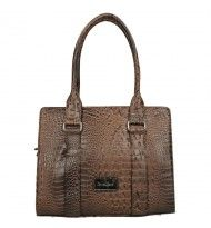 Daniele Donati shopper croco Brown