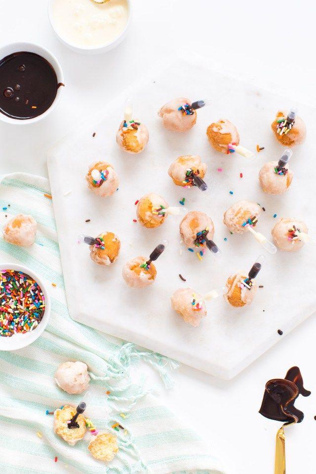 how to make mini donut balls