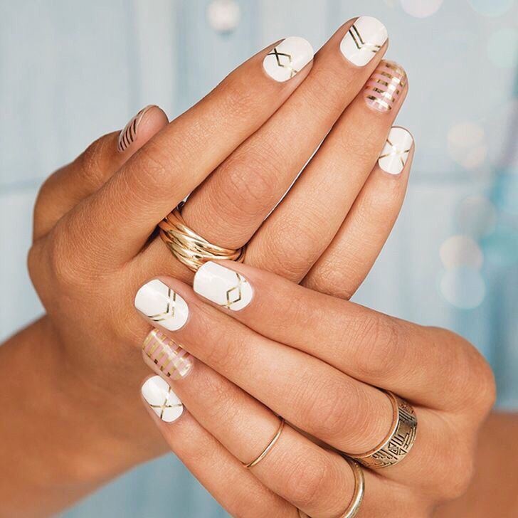 """Try out our sweet """"gatsby"""" Jamberry nail wrap to go with your funky hair, these wraps are so easy to apply using the Jamberry 1,2,3 method (YouTube) and they are non toxic, vegan and gluten free as well as super cheap. Click the picture to shop."""