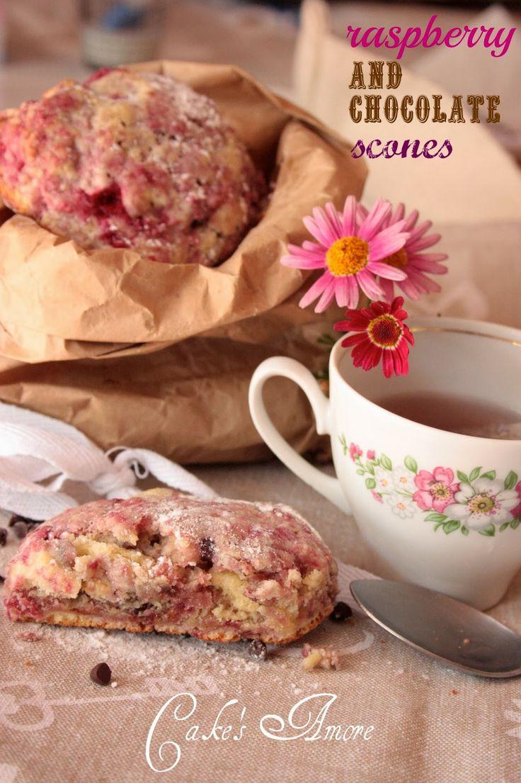 Cake's Amore......and more: raspberry and chocolate scones per unlamponenelcuore