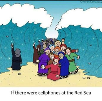 phones at the red sea