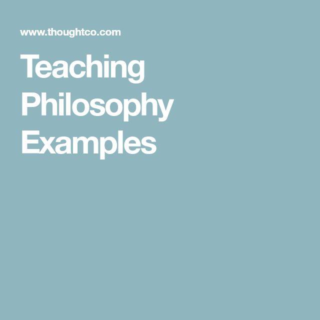 Teaching Philosophy Examples