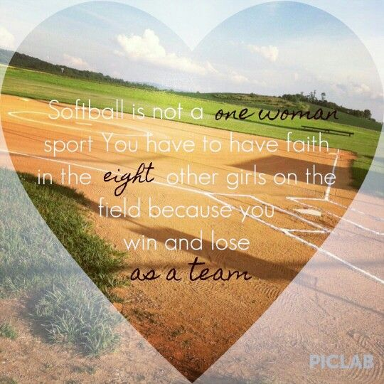 Softball quote!♡